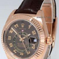 勞力士 (Rolex) Sky-Dweller 18k Everose Gold Chocolate Strap...