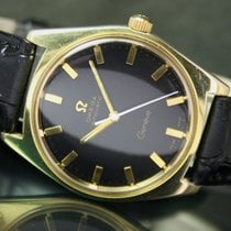 Omega Geneve Automatic Date Roll Gold Vintage Mens Watch