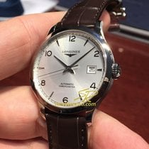 Longines Record L2.821.4.76.2 Longines RECORD Cronometro Acciaio Pelle 40mm new