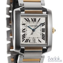 Cartier Tank Francaise Two-Tone 18k Yellow Gold Automatic 28mm...