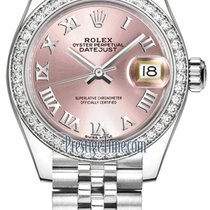 Rolex Lady-Datejust Staal 28mm Roze