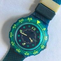 Swatch gebraucht Quarz 38mm Blau Kunststoff