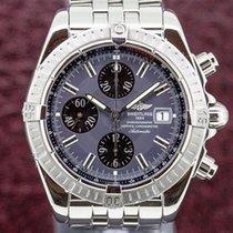 Breitling A13356 Chronomat Evolution Chronograph SS Anthracite...