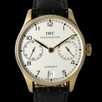 IWC Red gold Automatic Silver 42mm pre-owned Portuguese Automatic