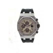 Audemars Piguet Royal Oak Offshore Chronograph Steel 42mm Champagne Arabic numerals