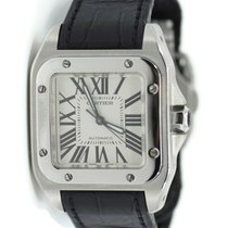 Cartier Santos 100 Steel 33mm Silver Roman numerals United States of America, New York, New York