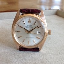 Rolex Red gold Automatic Silver 36mm pre-owned Datejust
