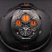 Seiko Sportura Titanium 42mm Black United States of America, California, Huntington Beach