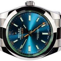 Rolex Milgauss Steel 40,00mm Blue No numerals