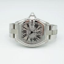Cartier Roadster Steel 42mm Silver Roman numerals