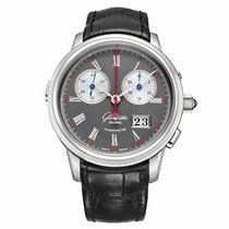 Glashütte Original Senator Rattrapante Platinum Grey United States of America, New York, New York
