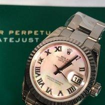 Rolex Or blanc Remontage automatique Nacre Romain 26mm nouveau Lady-Datejust