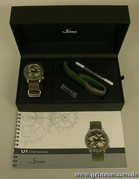 Grimmeisen Uhren taucheruhr u 1 camouflage for 1 697 for sale from a trusted