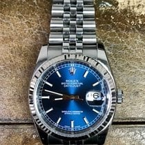 Rolex Datejust 116200 Blue Dial 36mm Jubilee 18k White Gold...