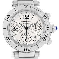 Cartier Pasha Seatimer Chrono Stainless Steel Mens Watch W31089m7