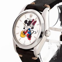 Rolex Oysterdate Precision Minnie & Mickey Mouse Edelstahl an...