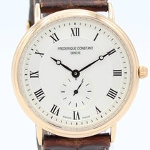 Frederique Constant Yellow gold Quartz Grey Roman numerals 33mm pre-owned Classics