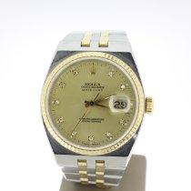 Rolex Datejust Oysterquartz Or/Acier 36mm Champagne Sans chiffres