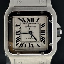 Cartier 32mm Automatic 2008 pre-owned Santos Galbée White