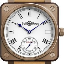 Bell & Ross Titanium Manual winding White Roman numerals 46mm new BR 01