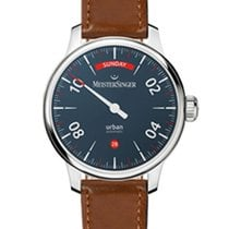Meistersinger Urban Steel 40mm Blue Arabic numerals