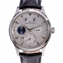 Jaeger-LeCoultre Master Eight Days Perpetual Acero 40mm Plata Sin cifras