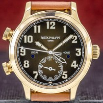Patek Philippe Travel Time Rose gold 37.5mm Brown Arabic numerals United States of America, Massachusetts, Boston