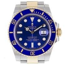 Rolex Submariner Date Acero y oro 40mm Azul
