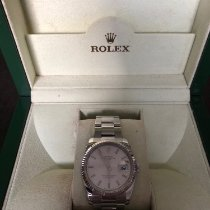 Rolex Or blanc Remontage automatique Argent Arabes 34mm occasion Oyster Perpetual Date