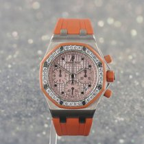 Audemars Piguet White gold Automatic Pink 37mm pre-owned Royal Oak Offshore Lady