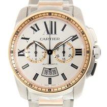 Cartier Calibre De Cartier 18k Rose Gold And Steel White...