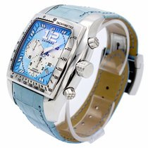 Chopard TWO O TEN Tycoon Blue Dial Blue Leather Automatic Men...
