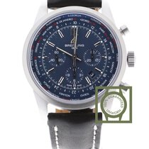 Breitling Transocean Chronograph Unitime Pilot Rubber NEW