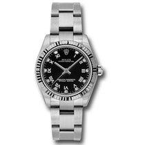 Rolex Oyster Perpetual 31 Stahl 31mm Schwarz Römisch