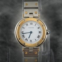 Cartier Santos 18K Solid 2Tone Gold\Steel Quartz - LU941