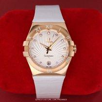 Omega Or rose Quartz Argent 35mm occasion Constellation Quartz