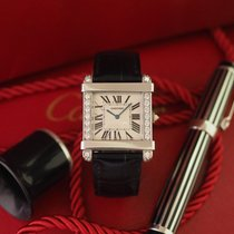 Cartier Platinum Manual winding White Roman numerals 37mm pre-owned Tank (submodel)