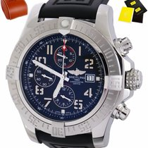 Breitling Steel Automatic Black 40mm pre-owned Super Avenger II