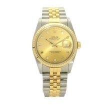 Rolex 16233 Goud/Staal 1991 Datejust 36mm tweedehands