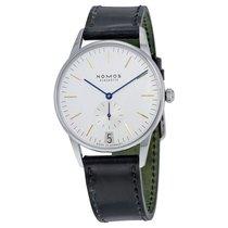 NOMOS Orion Datum neu Handaufzug Uhr mit Original-Box und Original-Papieren 380