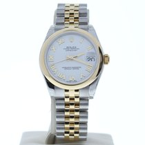 Rolex Lady-Datejust Acero 31mm Blanco Romanos