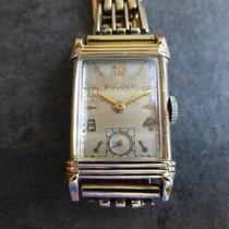 Bulova Crystal Yellow gold 37mm Silver Arabic numerals