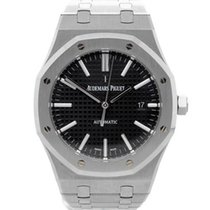 Audemars Piguet Royal Oak Acero 41mm Negro Sin cifras