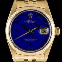 Rolex 18k Y/Gold Rare Lapis Lazuli Vintage Datejust Gents 1601