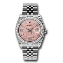 Rolex 116244 Datejust Stainless Steel&18K White Gold&Diamond...