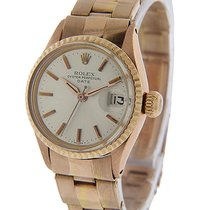 Rolex Rose gold Automatic Silver 25mm pre-owned Oyster Perpetual Lady Date