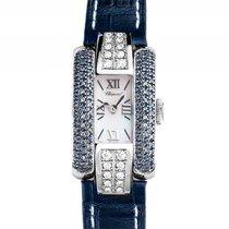 Chopard La Strada Stahl Perlmutt Diamond Saphir Quarz Armband...