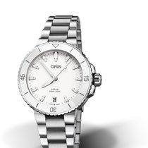 Oris Aquis Date 01 733 7731 4151-07 8 18 05P Oris DATE Bianco Acciaio 36,5mm new