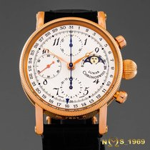 Chronoswiss Lunar Rose gold 38 mm case withot crownmm Silver (solid) Arabic numerals