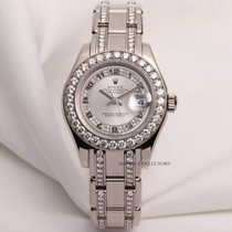 Rolex Lady DateJust Pearlmaster 80299 18K White Gold Diamond...